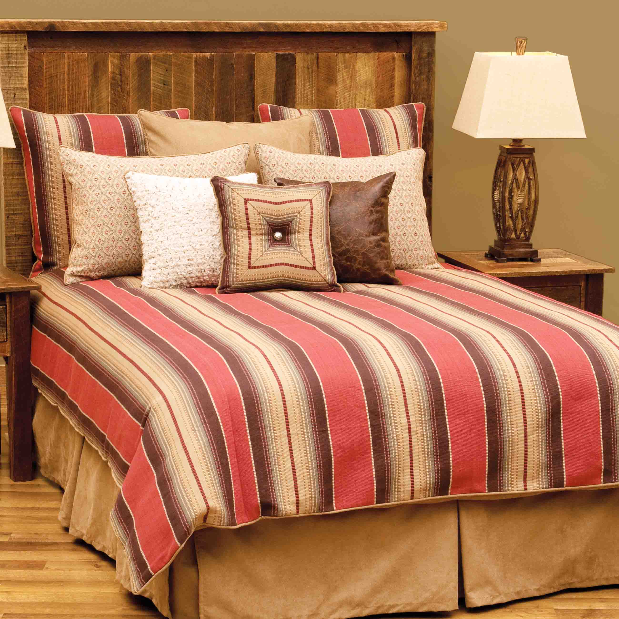 bed p brown set crestwood comforter comforters rustic pc saddle